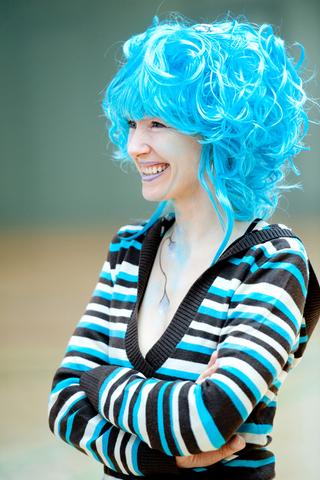 Spanierin Mit Blauem Haar