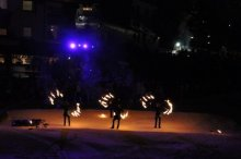 fire show & freestyle jumps